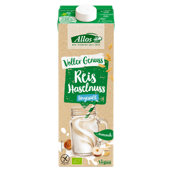 Allos Bio Reis Haselnuss Drink ungesüßt
