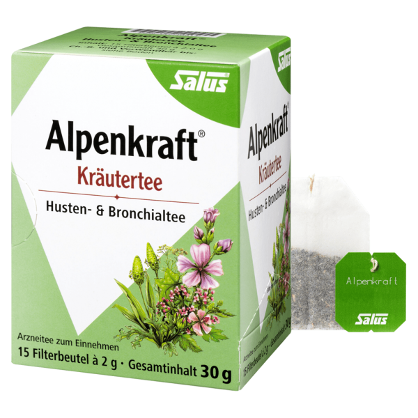 Salus Alpenkraft® Husten- & Bronchialtee, 15 Filterbeutel