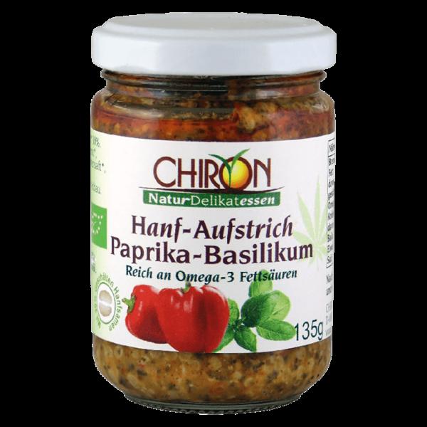 Chiron Bio Hanf-Aufstrich Paprika-Basilikum