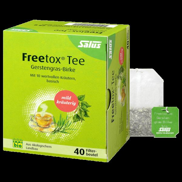 Bio Freetox Tee Gerstengras Birke, 40Btl