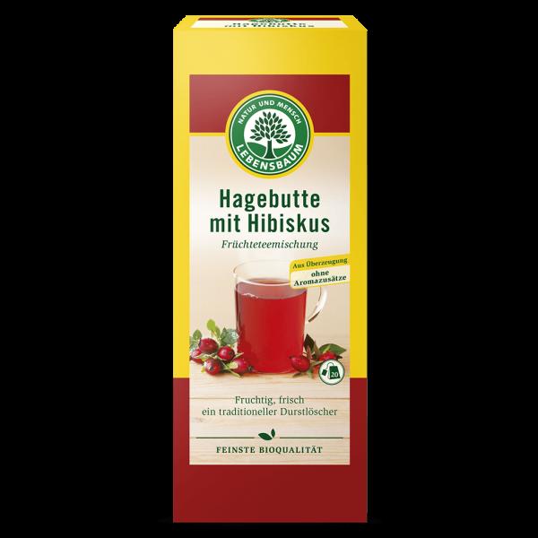 Lebensbaum Bio Hagebutte mit Hibiskus Tee, 20Btl