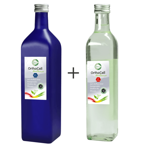 OrthoCell AG Balance OH⁻ Lösung & Balance H⁺ Lösung (je 1 Liter)