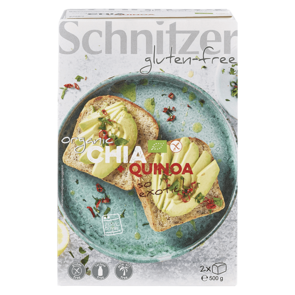 Schnitzer Bio Chiabrot mit Quinoa, 2 Stück 500g