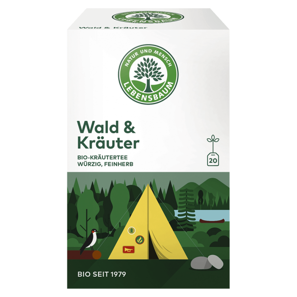 Lebensbaum Bio Wald & Kräuter Tee, 40g