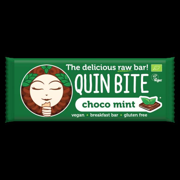 Quin Bite Bio Schoko-Minze Rohkost Riegel