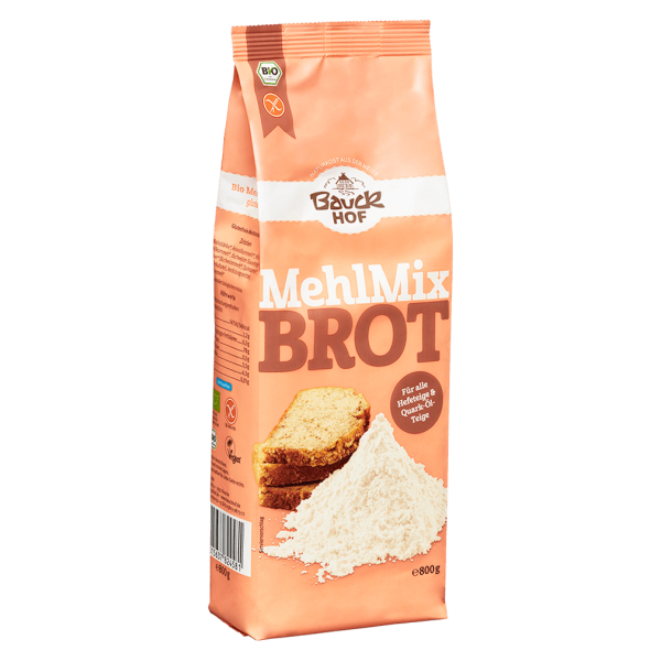 Bauckhof  Bio Mehl-Mix Brot glutenfrei 800g