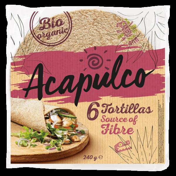 Acapulco Bio Tortilla Wraps mit Weizenkleie