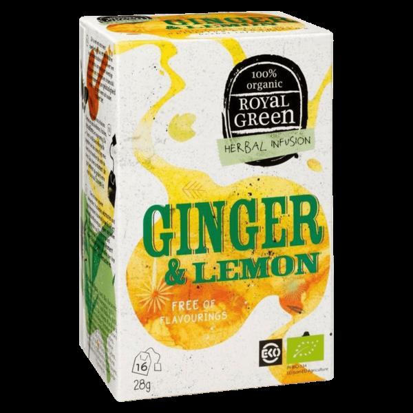 Royal Green Bio Ginger & Lemon Gewürztee