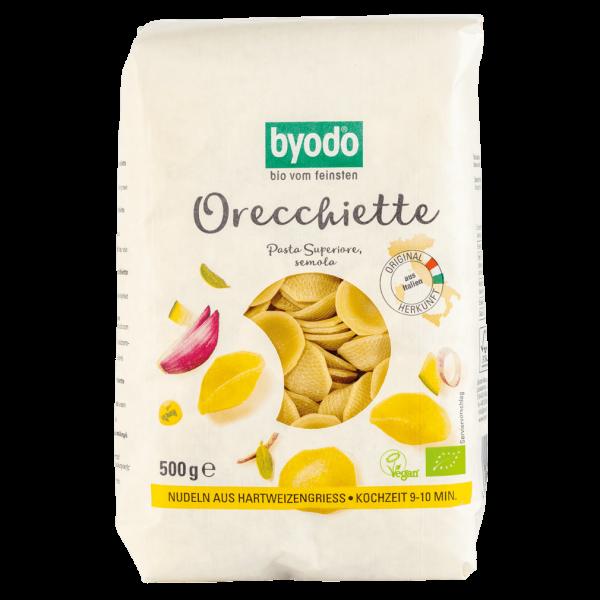 byodo Bio Orecchiette, 500 gr Packung -hell-