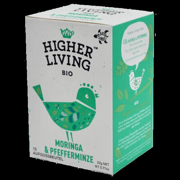Higher Living Bio Moringa & Pfefferminze Tee, 20 Beutel