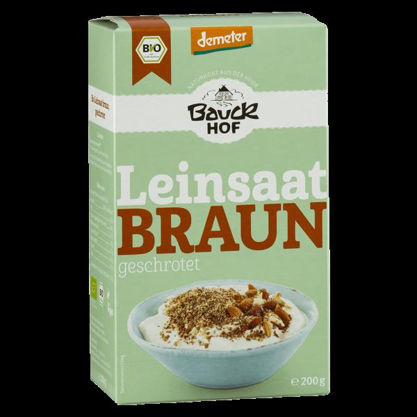 Bio Leinsaat Braun geschrotet