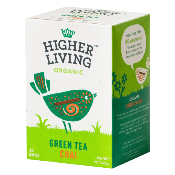 Higher Living Bio Tea Green Tea Chai 20Btl