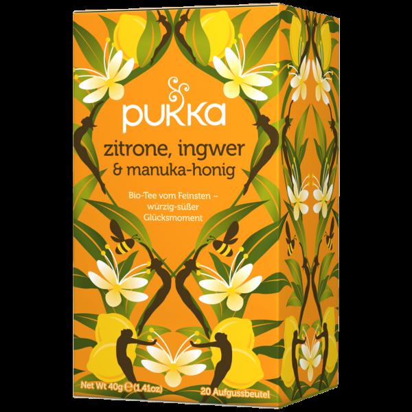Pukka Bio Zitrone, Ingwer & Manuka Honig