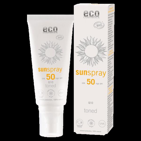 Eco Cosmetics Sonnenspray LSF 50 getönt Q10, 100 ml Stück