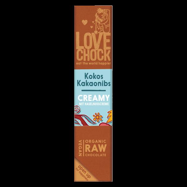 Bio Raw Kokos Kakaonibs Creamy Schokoriegel