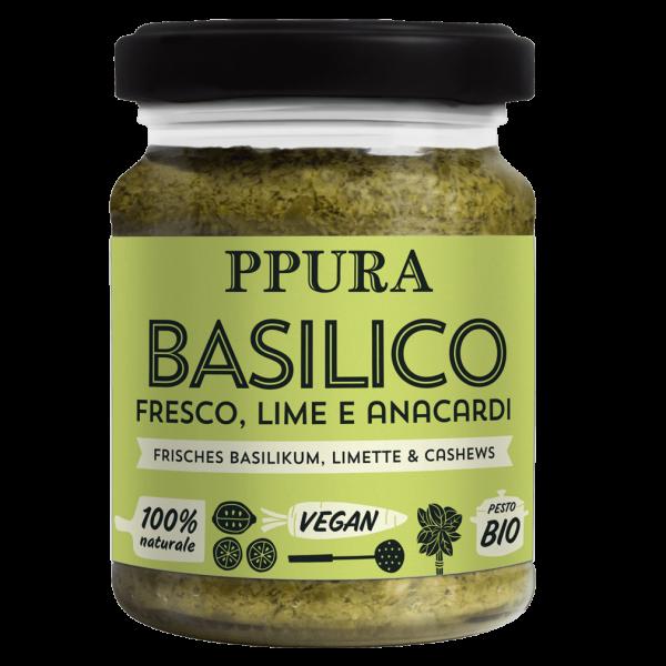 Bio Genovese Frische Basilikum, Limette und Cashews